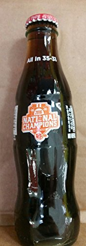 Commemorative Coca Cola All In 35-31 Clemson Tigers National Champions In 8 Oz SINGLE Bottle