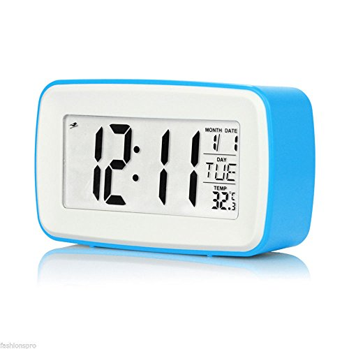 MAZIMARK--8 in 1 Touch Digital Alarm Personalized Recording Clock LCD Screen with Date Tem - Burger King Costume Ideas