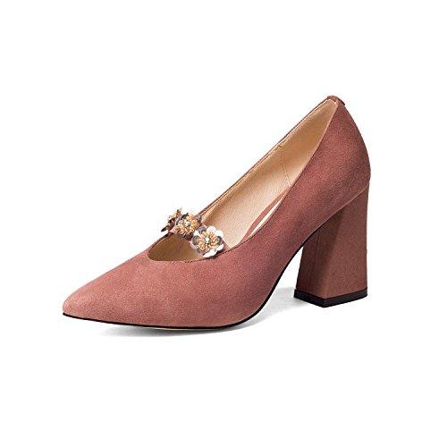 Treinta Sandalias Frosted y alto cuatro de rough cm Solo tacon zapatos 9 AJUNR 39 Transpirable Lotus superficial Moda elegante puntiagudas Zapatos salvaje qHxUYt