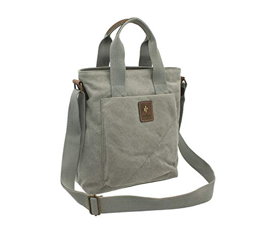 Denim and Cross Canvas Body Grey Distressed Bag Grab Oiled CL811 Leather 81 CACTUS 5PYnf5R