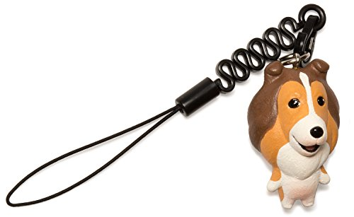 Pet Lovers Petite Dog Cell Phone Strap (Shetland Sheepdog / Brown)