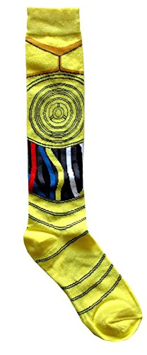 (Hyp Star Wars C-3PO Costume Suit Up Junior/Women's Socks Shoe Size)