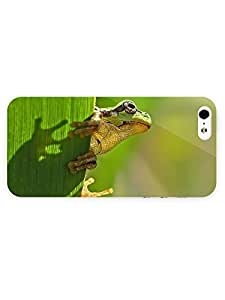3d Full Wrap Case for iPhone 5/5s Animal Frog On The Leaf