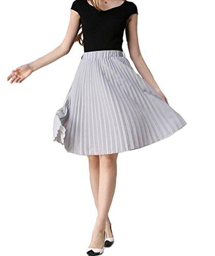 Chiffon Knee Length Skirt - 6