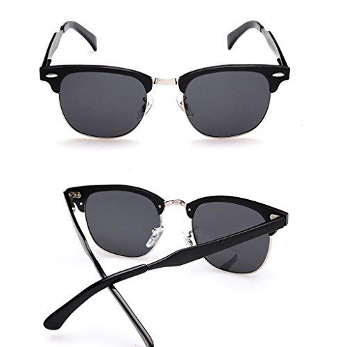 Gafas Hombres Sol Naranja Negro De Color WANGXIAOLIN Retro Simples 1XnZqHnU