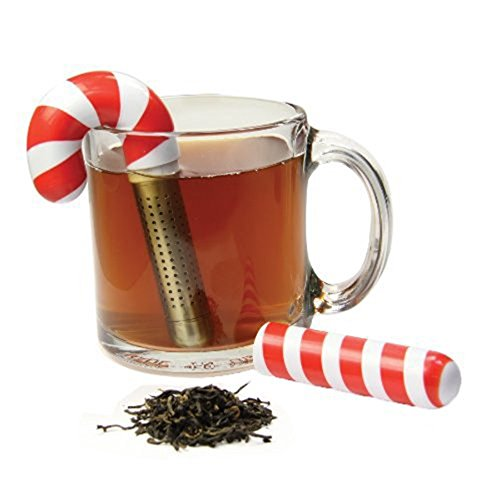 Holiday Candy Cane Tea Infuser - Candy Cane Ball
