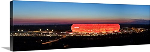 premium-thick-wrap-canvas-wall-art-print-entitled-soccer-stadium-lit-up-at-dusk-allianz-arena-munich