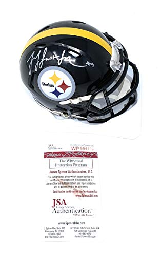 JuJu Smith Schuster Pittsburgh Steelers Signed Autograph Speed Mini Helmet JSA Witnessed Certified