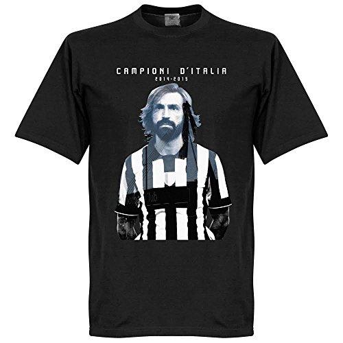 2015Pirlo CAMPIONI D? Italia Camiseta–Negro