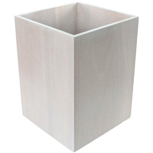 Gedy Papiro Waste Basket Made from Wood Available, White