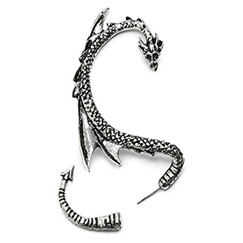 Transser Dragon Earring Clip Gothic Chic Fashion Earrings Creative Gift for Ladies - Cuff Organza