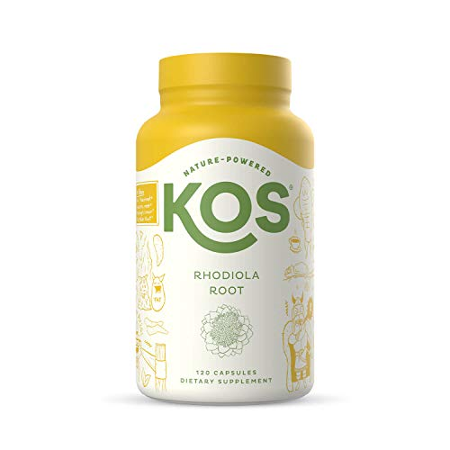 KOS Organic Rhodiola Rosea 500mg - Natural Adaptogen, Rhodiola Root Extract - Promotes Sleep, Natural Stress & Anxiety Relief - 120 Capsules