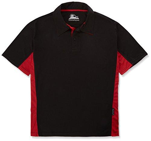 Himalaya-h801brxxxxl, 4 Stück, groß, klassisches Polo-Shirt, Schwarz/Rot