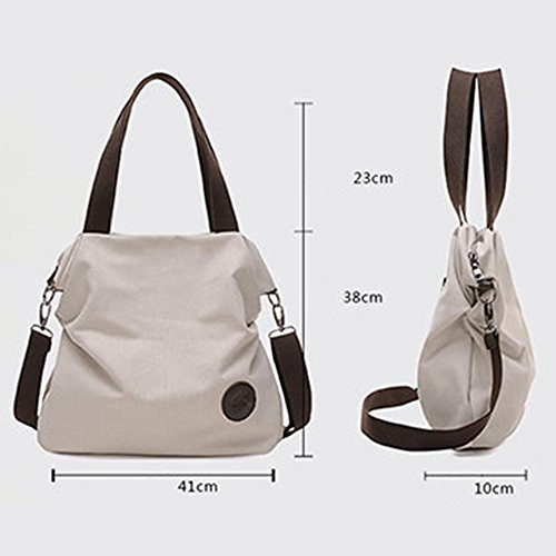 BYD - Mujeres Bag Bolsos bandolera Mutil Function Bag Crossbody Bag Tote Carteras de mano Blanco