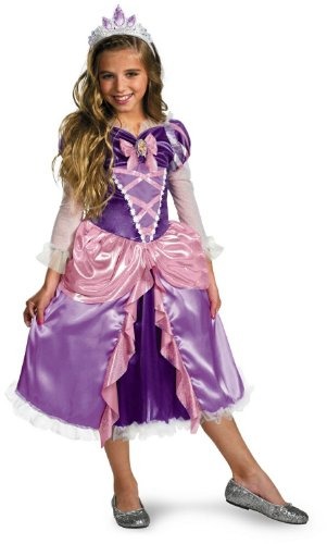 """Princess """"Tangled"""" Rapunzel Shimmer Deluxe Costume - Extra Small (3T-4T)"""