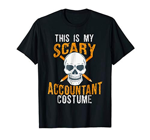 Funny Scary Accountant costume Tee shirt for Halloween 2017