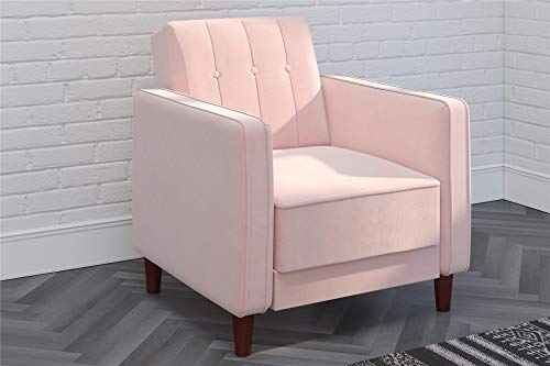 DHP DZ52121 Pin Tufted, Pink Velvet Accent Chair