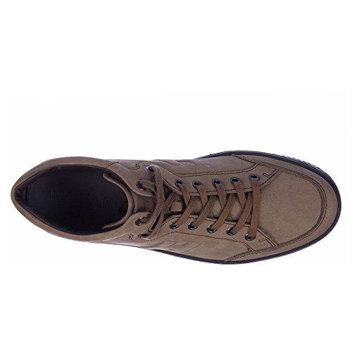 Hogan Scarpe Sneakers Uomo in Pelle Nuove Mid Cut Marrone Con La Venta En Línea Mastercard Buena Venta nIZuAY3KU