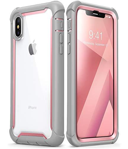 i-BLASON Funda para iPhone X, Compatible con iPhone XS 5.8, [Ares] Apple iPhone 10 Funda de Parachoques Transparente con...