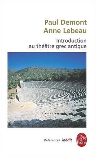 Livre gratuits Introduction au théâtre grec antique pdf