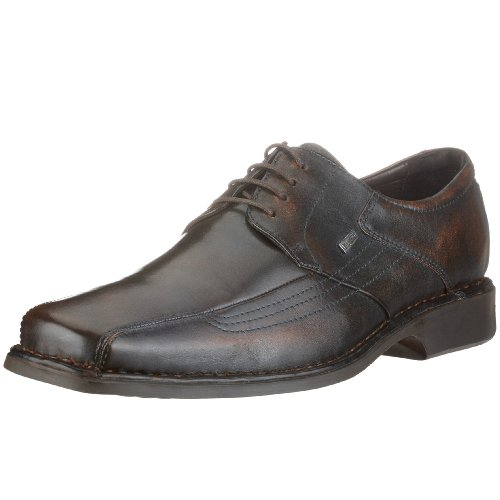 Bugatti Bugatti Herren Schnürschuh extra weit 650140 - Zapatos de cordones de cuero para hombre Marrón