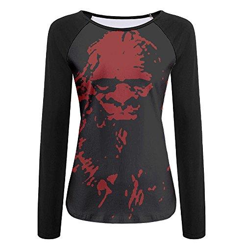 Bigfoot Outlaws Women's Breathable T-Shirt Long Sleeve Baseball Tees