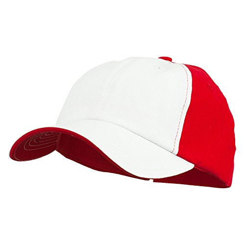 Twill Sandwich Brushed Cotton (Brushed Cotton Twill Sandwich Bill Cap - Red OSFM)