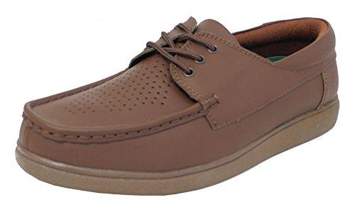 hombre ligera Blanco plana Tan Brown mujer Brown suela cordones 5 zapatos Para Tan Bowling para Tamaño Gris 12 con Bw6q1nIEx