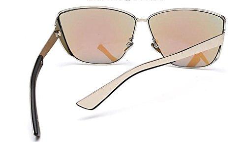 rond retro Bleu inspirées soleil lunettes polarisées Film style de métallique vintage du Lennon en cercle AwB7xYHq7