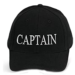 4sold 100% Cotton Ancient Mariner, Captain Cabin Boy Crew First Mate Yachting Baseball Cap Inscription Lettering Black…