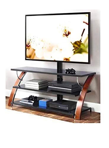 Whalen Payton Brown Cherry 3-in-1 Flat Panel TV Stand for TVs up to 65