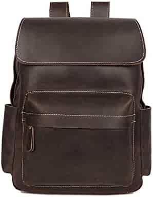 Vintage Laptop Backpack 15.6 Inch Laptop Backpack Donut Backpack Durable Canvas Business College Travel Daypacks Color : Coffee, Size : 12.9 L x 6.2 W x 16.9 H