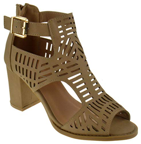 (Nature Breeze FQ83 Women's Elastic Strappy Lug Sole Platform Sandals, Color:Olive, Size:5.5)