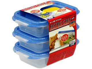 Food Storage Containers Set of 3(japan Import)