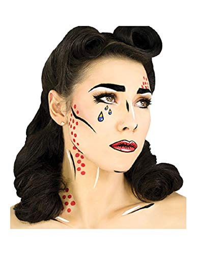 Woochie Water Activated Makeup Kit - Professional Quality Halloween and Costume Makeup - Pop Art -