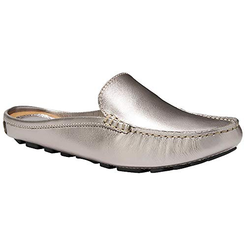 Eastland Women's Monica Loafer Silver 9.5 M US