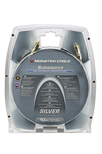 Monster Cable Silver High Performance Subwoofer Audio Cable, 10M (32.8 Ft) … by Monster (Image #1)