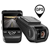 Pruveeo 112GW FHD 1080P Dash Cam, Built-in GPS, Dash Camera for Cars with Sony Sensor 170-degree Wide Angle 2.4-inch LCD