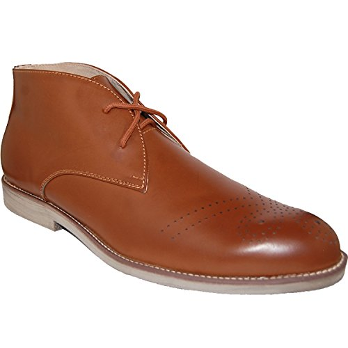 Zapatillas Kenny Leather Lined Upper Brown Chukka, Hombre