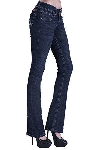 Blue Denim Bootcut Jeans - 4