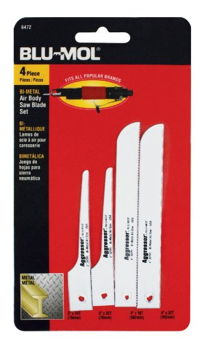 Air Saw Blade (Disston E0101319 Blu-Mol Air Saw Blade Assortment, 4-Piece)