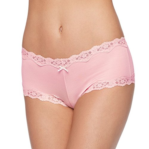 Peach Scalloped (Maidenform Cheeky Women`s Scalloped Lace Hipster, 5, Gentle Peach)