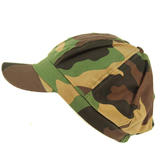 - Summer 100% Cotton Plain Blank 8 Panel Newsboy Gatsby Apple Cabbie Cap Hat Camo
