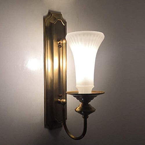 LHQ-HQ Outdoor Wall Lamp Gold Wall Lamp Soldering Tin Copper Ground Glass Porch Aisle Corridor Bedside Stairs Balcony Outdoor High Taste Simple Style