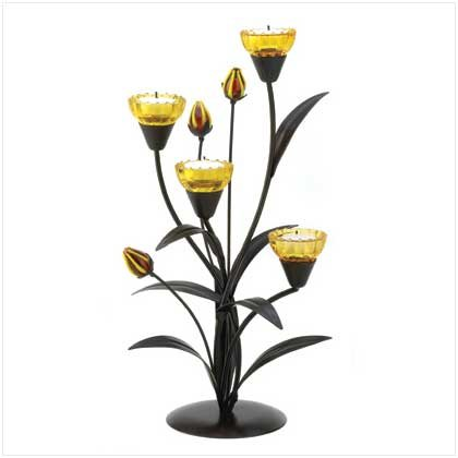 Decorative Lovely Lily Tealight Home Candle Décor
