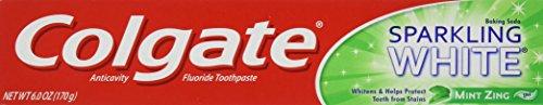 Colgate Sparkling White Toothpaste, Mint Zing, 6 oz