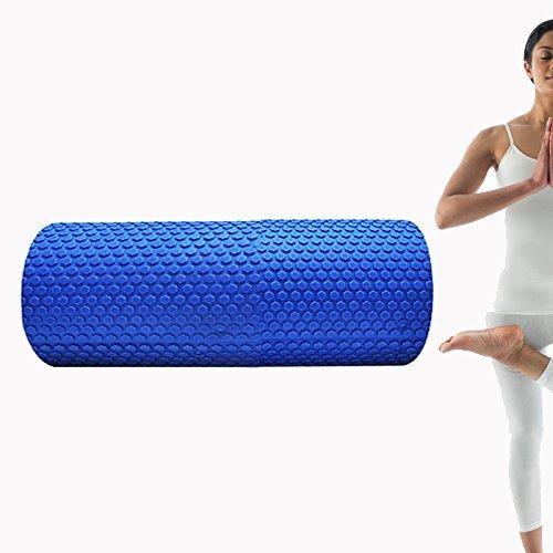 denshine Rouleau en mousse pour Yoga Pilates Fitness haute densité de massage point flottant en mousse EVA 30cm * * * * * * * * 15cm pour aider à équilibre d'exercice Bleu