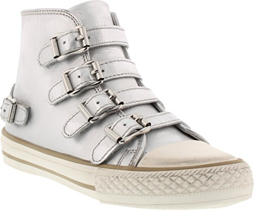 (Ash Girls' Vava Sneaker, Silver, 34 M EU Little Kid (3)