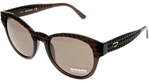Diesel Sunglasses 100% UV Protection Dark Brown Unisex DL0045 48E Round
