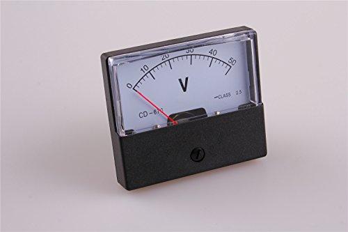 1pcs 670 50V Analog Volt Voltage Voltmeter Panel Meter DC 0-50V